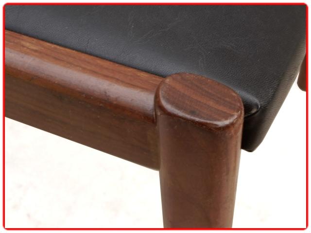 chaises palissandre skaï vintage scandinave
