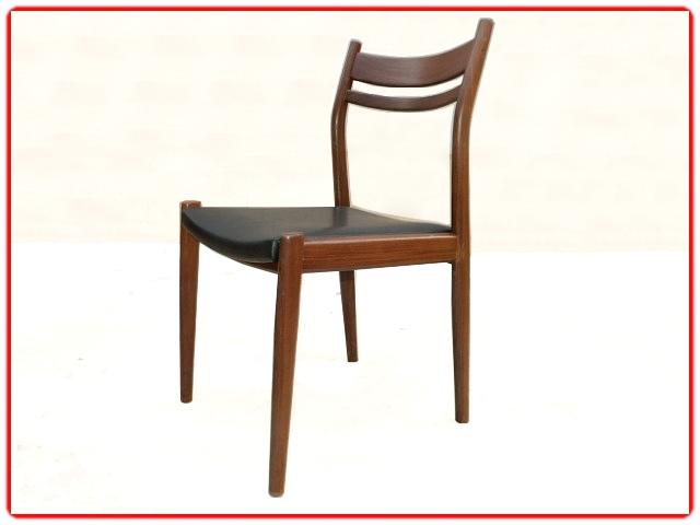 chaises scandinaves palissandre et skaï