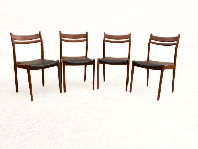 chaises scandinave palissandre années 1960