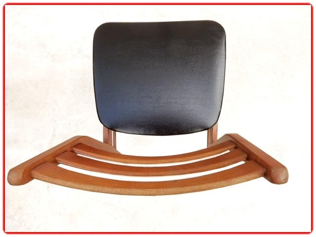 4 chaises vintage scandinave 1960 rénovées