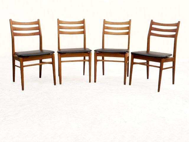 Chaises vintage scandinave bois skaî 1960