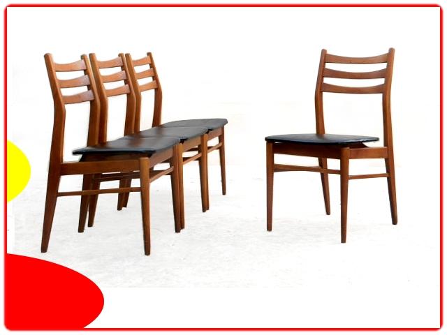 Chaises rénovées vintage scandinave