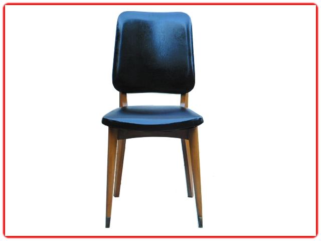 6 chaises vintage 1950 skaï noir
