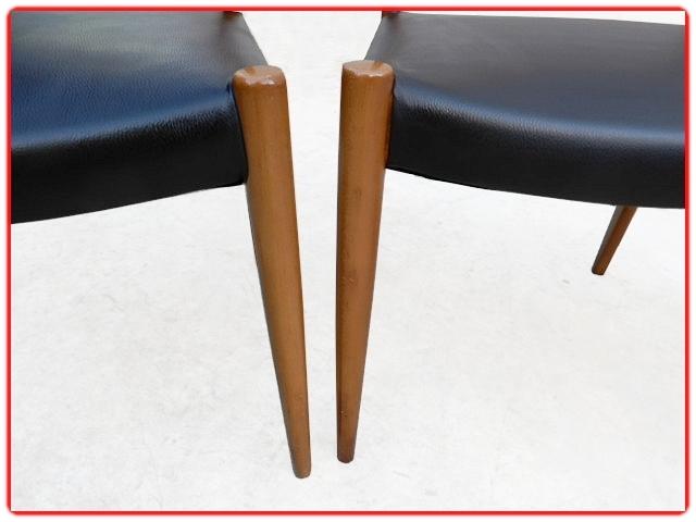 Chaises design scandinave rénovées