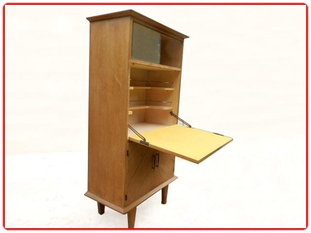 secrétaire bar vintage 1950 bois