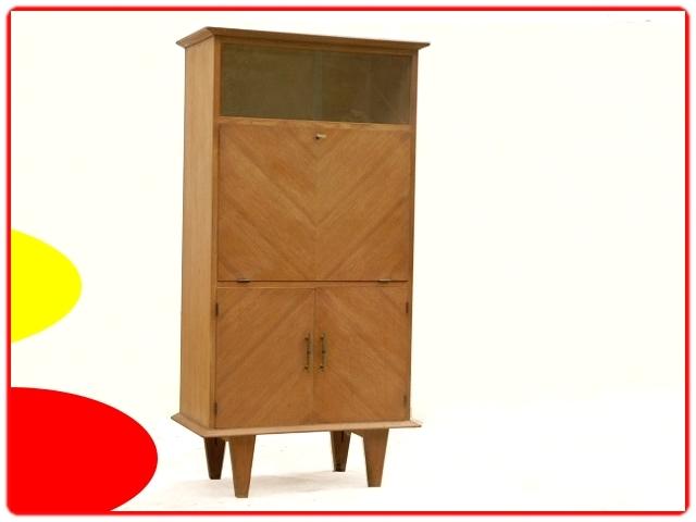Secrétaire vintage bois clair massif