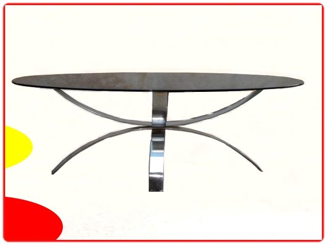 Table basse design verre fumé