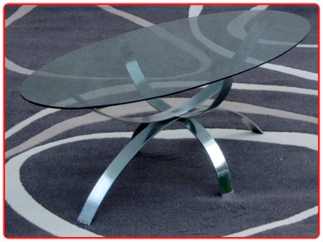 Table basse ovale design 1980