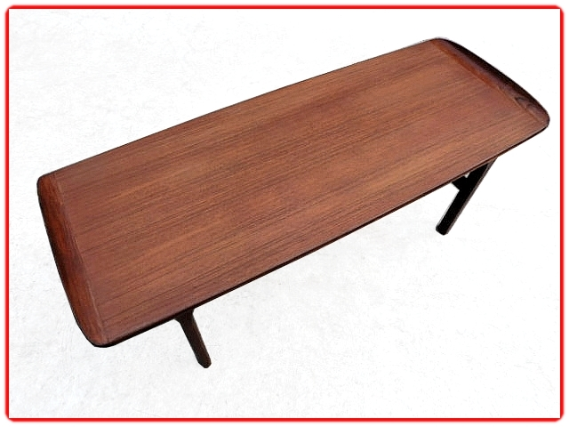 table basse en teck scandinave 1960