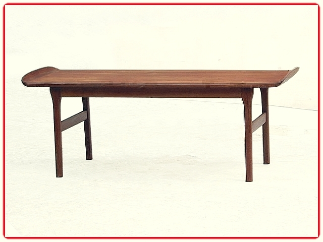 Table basse teck scandinave vintage 1960