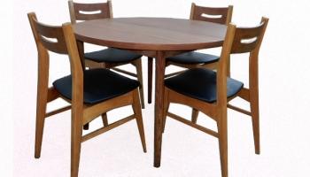 Table et chaises teck scandinave vintage 1960